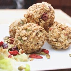 vegan gluten free apple energy balls