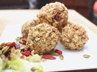 vegan gluten free apple energy balls
