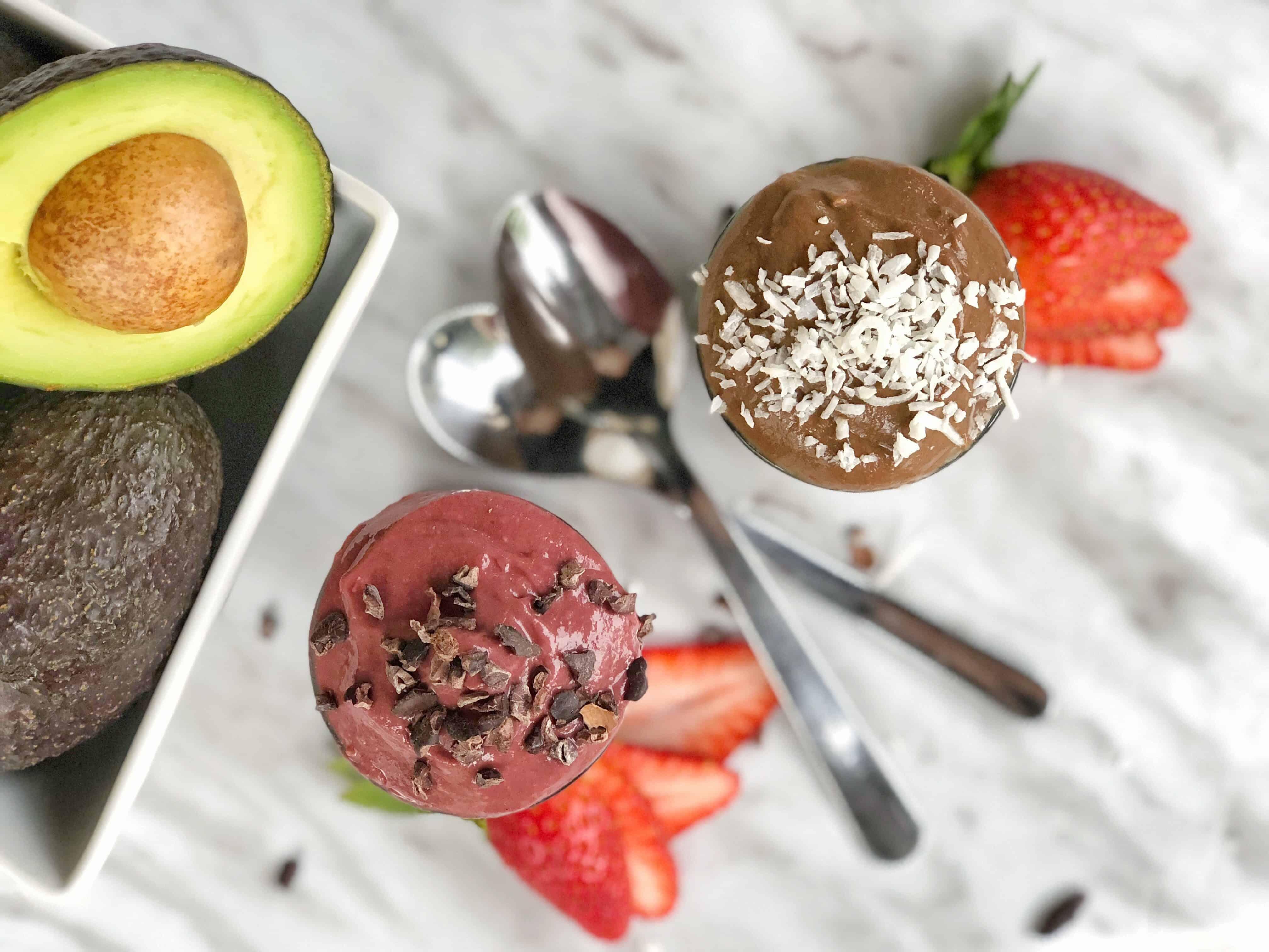 vegan healthy mousse dessert