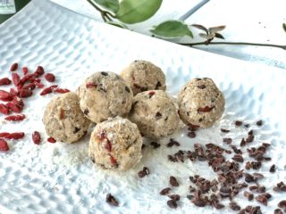chocolate chip chaga dough balls