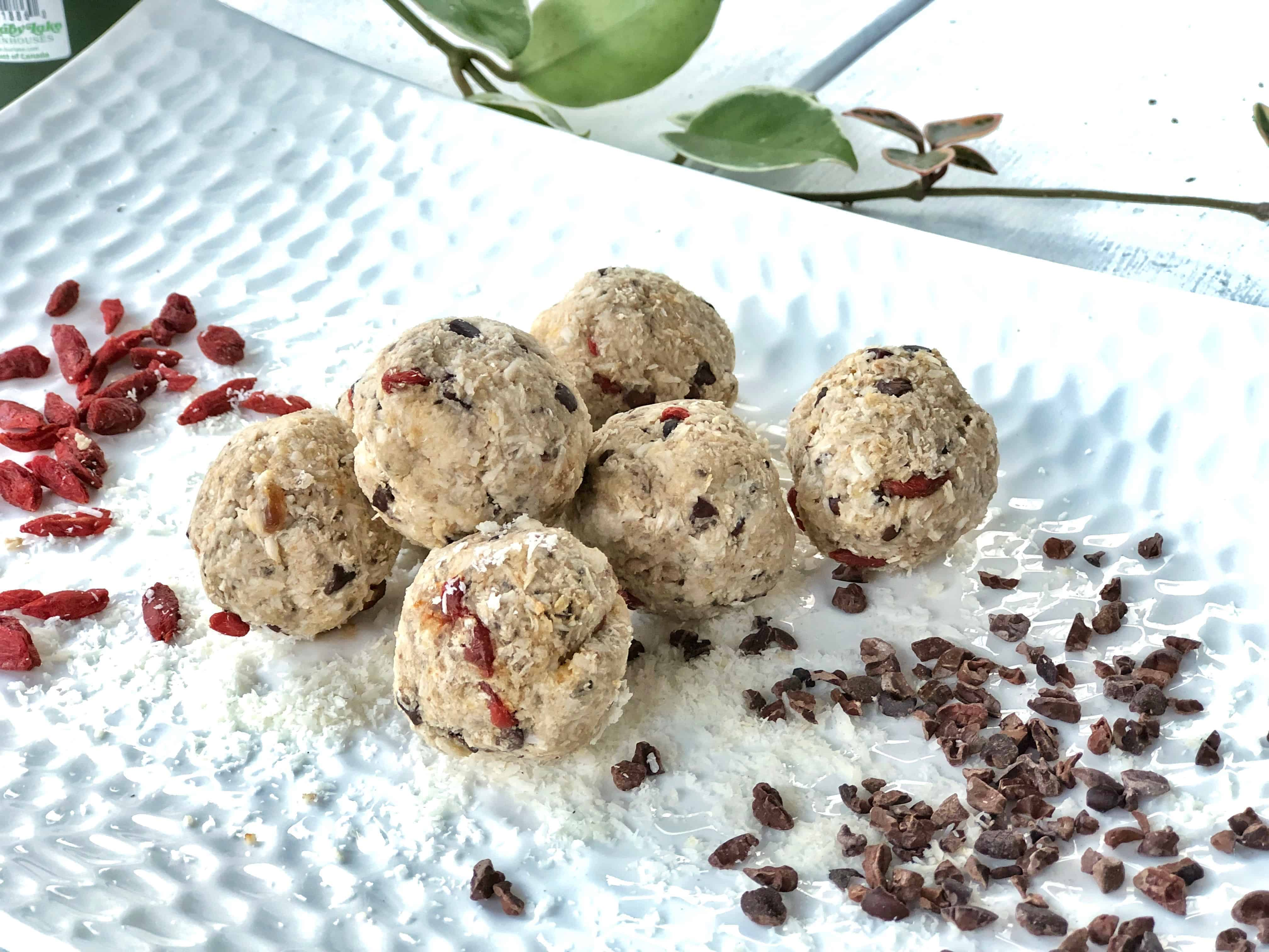 chocolate chip chaga dough balls