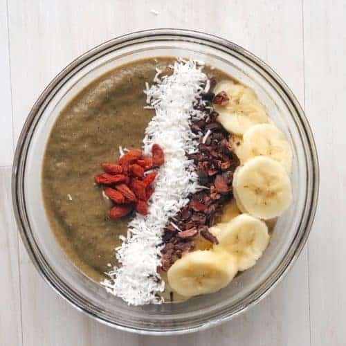 banana coconut smoothie bowl