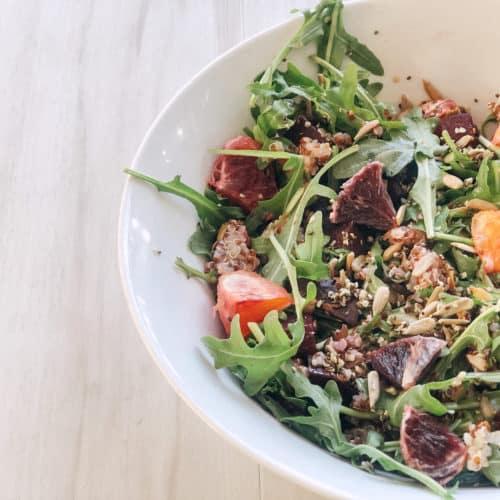 vegan quinoa salad beet