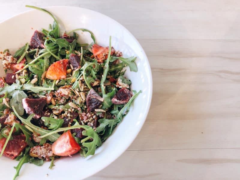 vegan beet quinoa salad