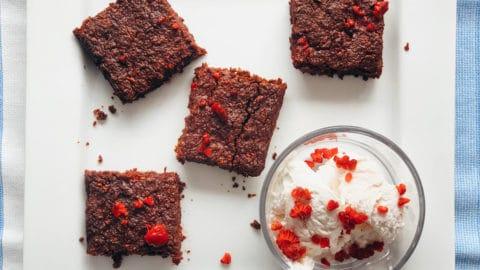 sugar free vegan brownies