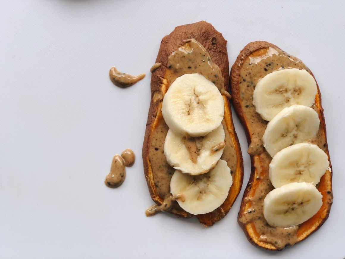 nut butter banana sweet potato toast