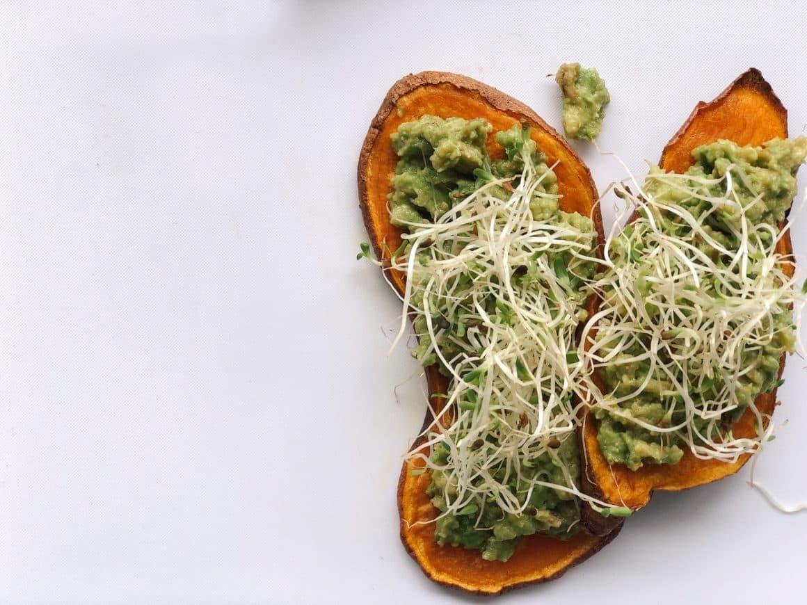 avocado yam toast